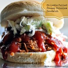 Chipotle Pulled Pork & Creamy Coleslaw Sandwich