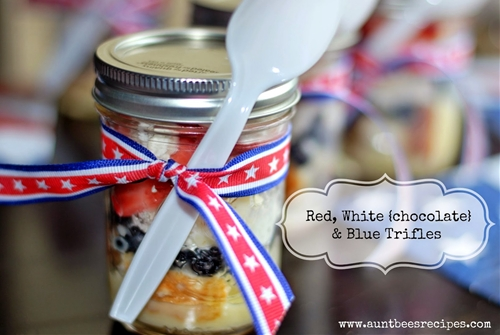 Red, White {chocolate} and Blue Trifles
