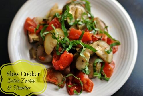Slow Cooker Italian Zucchini & Tomatoes