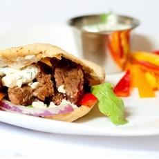Greek Marinated Steak Gyros with Greek Yogurt Dill Dip