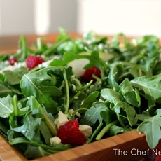 Arugula, Pear and Raspberry Salad