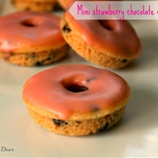 Mini Strawberry Chocolate Chip Donuts