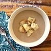 Roasted Cauliflower Soup with Sourdough Parmesan Croutons