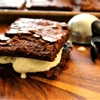 Espresso Brownie Ice Cream Sandwiches