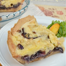 Caramelized Onion and Blue Cheese Quiche