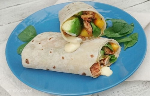 Chicken Avocado Wraps with Chili Mayonnaise