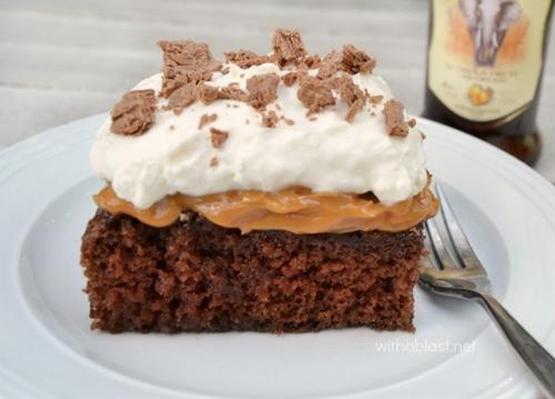 Amarula Chocolate Caramel Cake