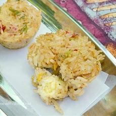 Mozzarella Stuffed Rice Clusters