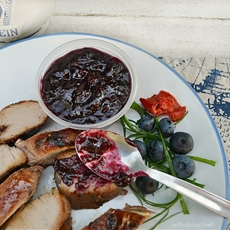 Pork Loin with Blueberry-BBQ Sauce
