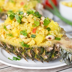 Thai Pineapple Fried Rice with Chicken