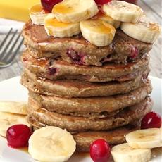 Cranberry Banana Oatmeal Pancakes
