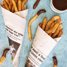 Spanish Churros Con Chocolate