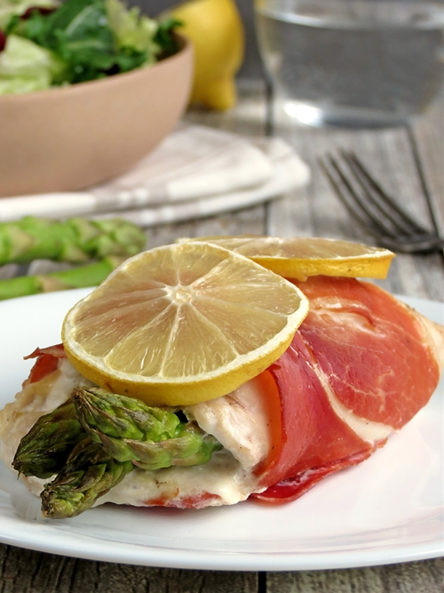 Prosciutto Wrapped Chicken Stuffed With Asparagus