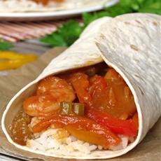 Sweet And Sour Shrimp Burritos