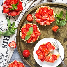 Strawberry Custard Tartlets