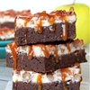 Salted Caramel Apple Cheesecake Brownies