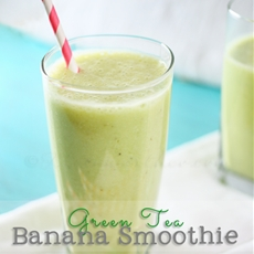 Green Tea Banana Smoothie