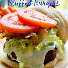 Double Ranch Stuffed Burgers