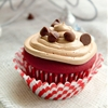 Chocolate Stuffed Red Velvet Cupcakes with Nutella Frosting