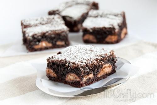 Chocolate and Caramel Kahlua Brownies