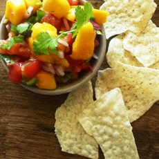 Sweet and spicy mango salsa