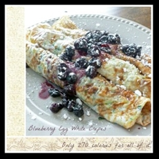 Blueberry egg white crepes