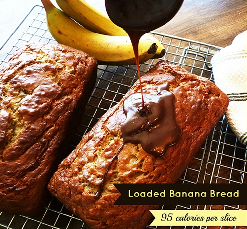 Loaded banana bread