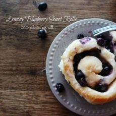 Lemony Blueberry Sweet Rolls