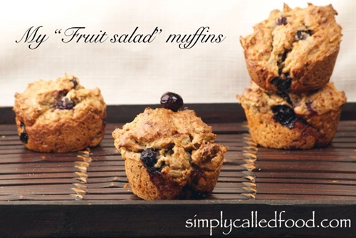 "My ""fruit salad"" muffins"