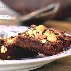 Decadent black beans brownie