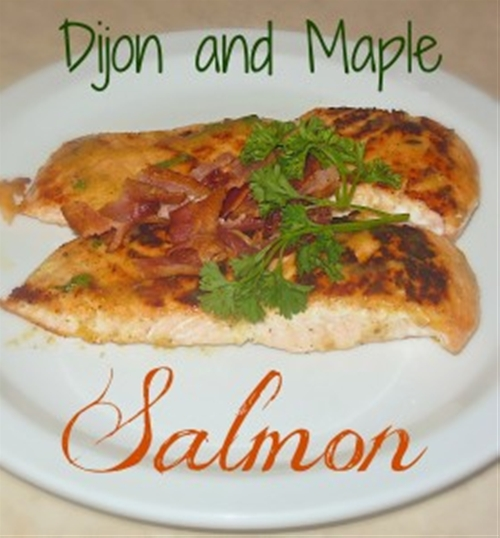 Sweet and savory maple and dijon mustard salmon