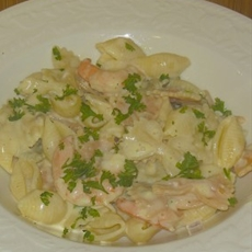 Pasta Alfredo with Shrimp