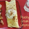 Peachy Cream Crepes