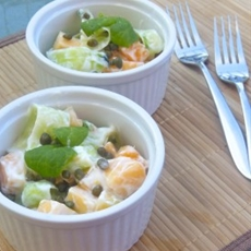 Cucumber & Cantaloupe Salad with Capers