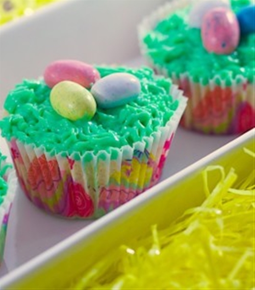 Birds Next Easter Cupcakes