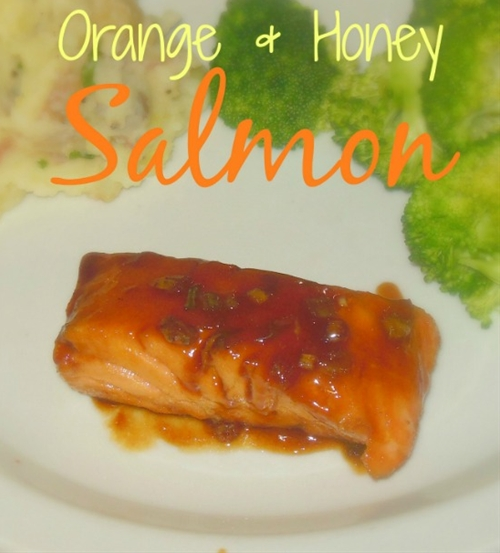 Orange and Honey Seared Salmon