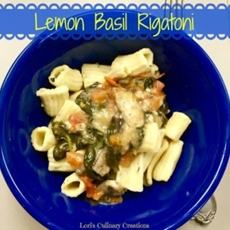 Lemon Basil Rigatoni with Fresh Veggies