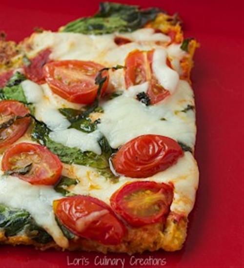 "Caprese Style Pizza w/Spaghetti Squash ""Crust"""