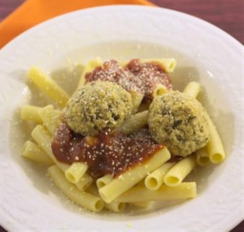 """Pasta with Eggplant """"Meatballs"""""""