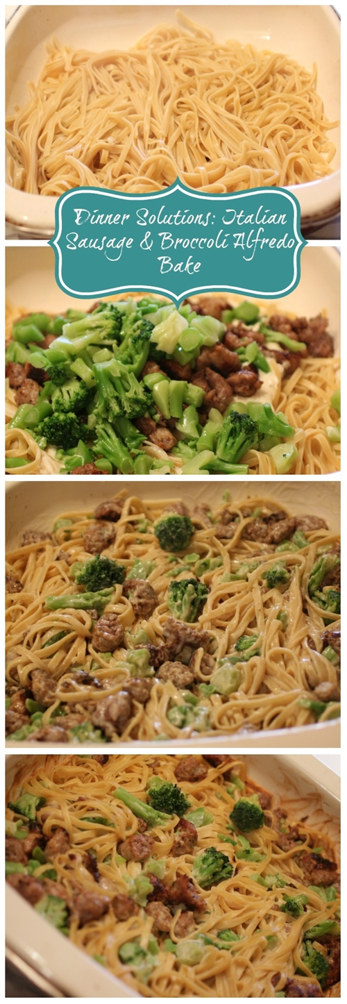 Dinner Solutions: Italian Sausage & Broccoli Alfredo Bake | Simple Bea