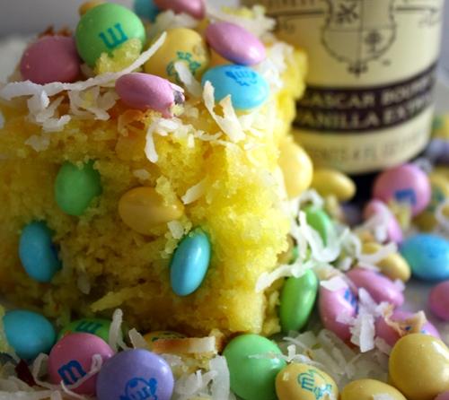 Lemon coconut easter cake