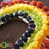 Rainbow Cinnamon Fruit Pizza