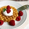 Cinnamon Cream Cheese Fruit Dip Waffles