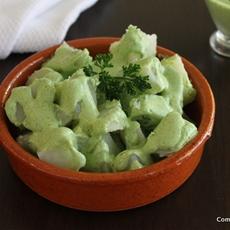 Receta de ensalada de papas verdes