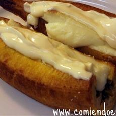 Plátanos Maduros al Horno, rellenos de queso y crema