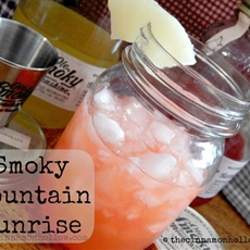 Smoky Mountain Sunrise Cocktail With Ole Smoky Moonshine