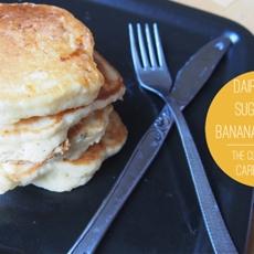 Dairy Free, Sugar Free, Banana Pancakes