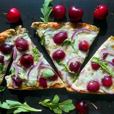 Flatbread Pizza with Cherries