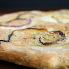 Onion and Rosemary flatbread