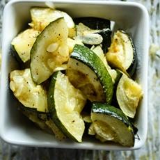 Thyme roasted zucchini